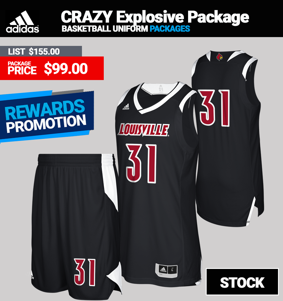 Adidas Crazy Explosive Basketball Jersey Package - Mens
