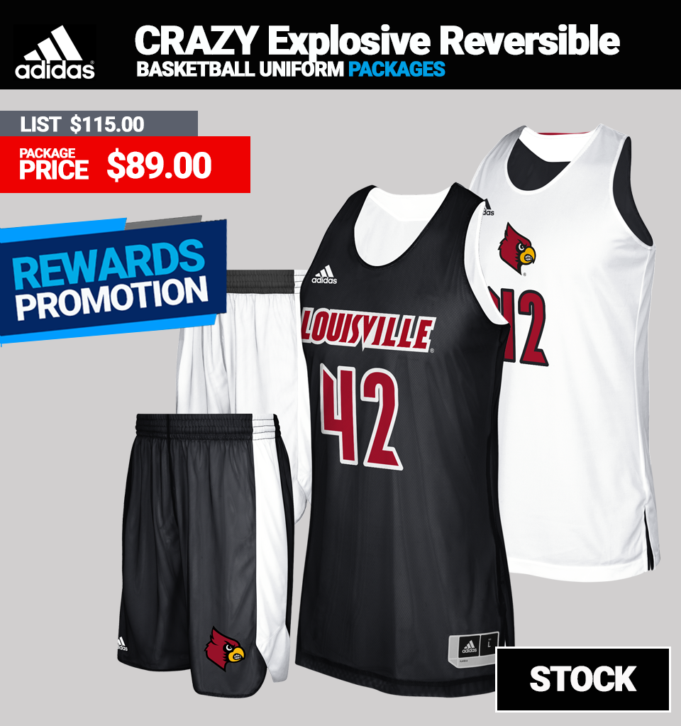 Adidas Crazy Explosive Reversible Basketball Jersey Package - Mens