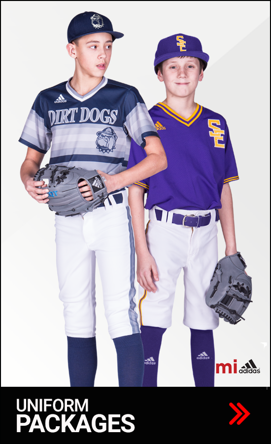 Adidas Youth Baseball Uniforms