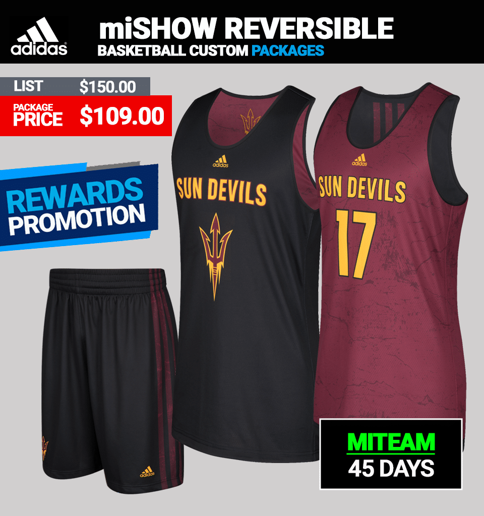 Adidas miSHOWNGO Reversible Basketball Uniform Package - Mens