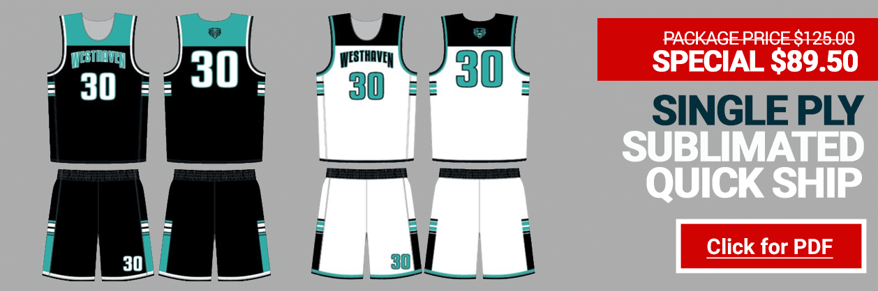 Alleson Sublimated Reversible Uniform Package - Basketball AAU