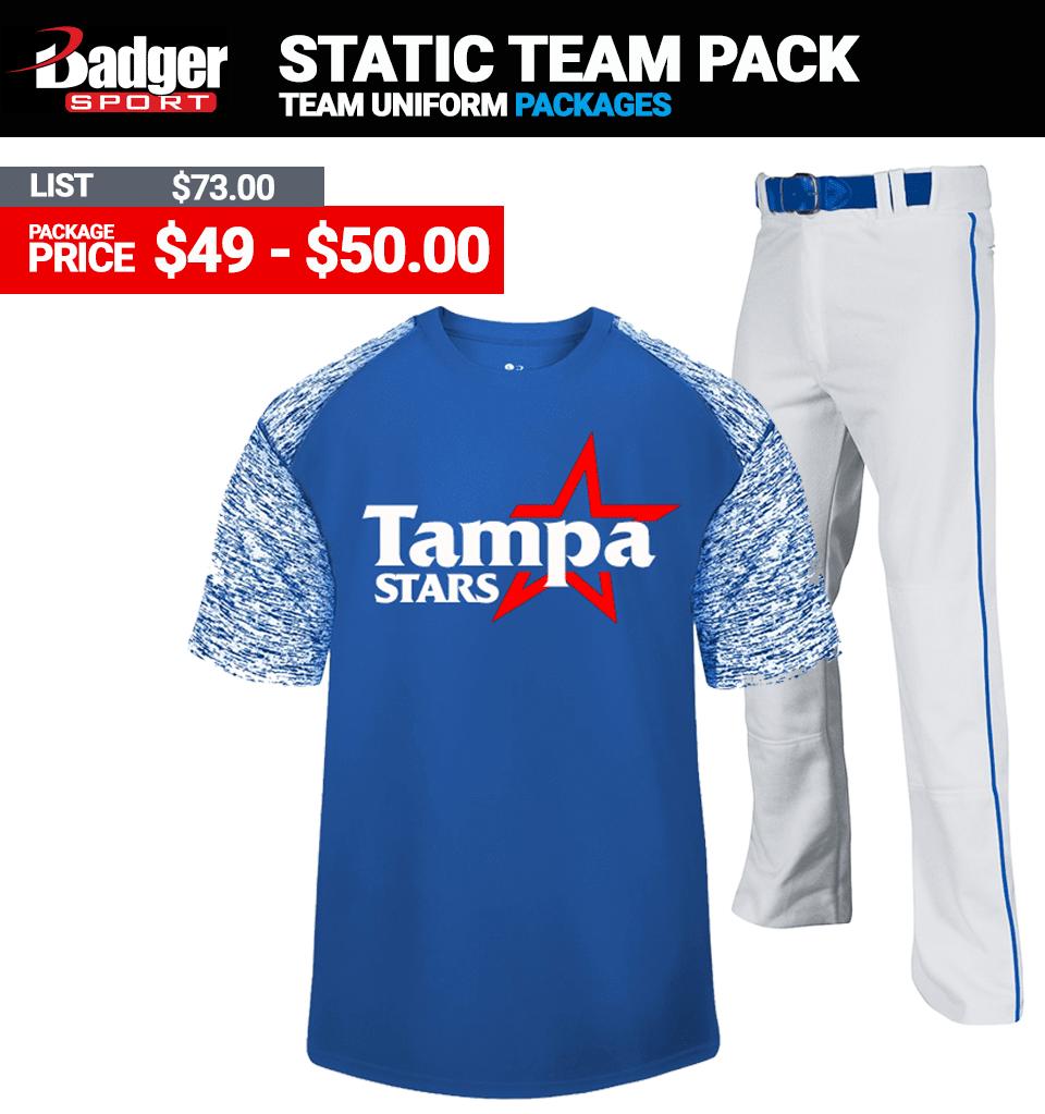 Badger Static Team Uniform Package - Baseball