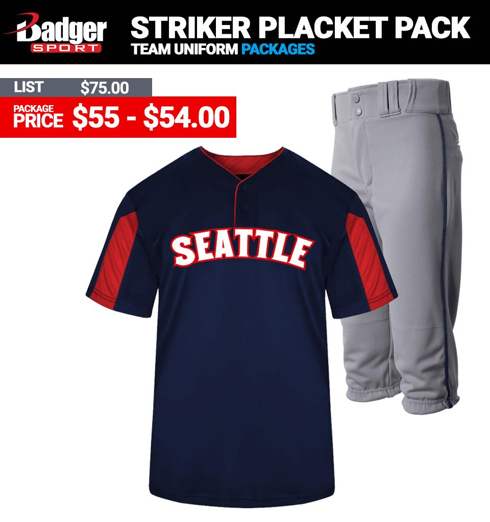 Badger Striker Uniform Package Baseball