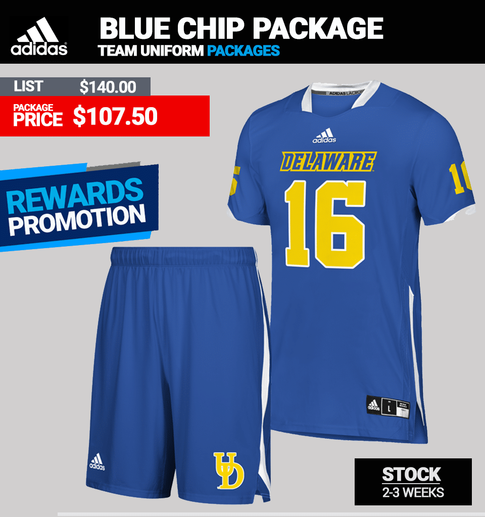 Adidas Bluechip Stock Lacrosse Uniform Package