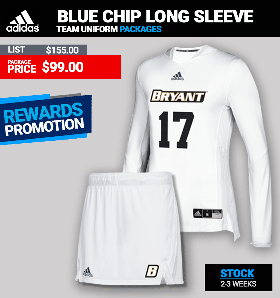 Adidas Womens Blue Chip Long Sleeve Lacrosse Uniform Package