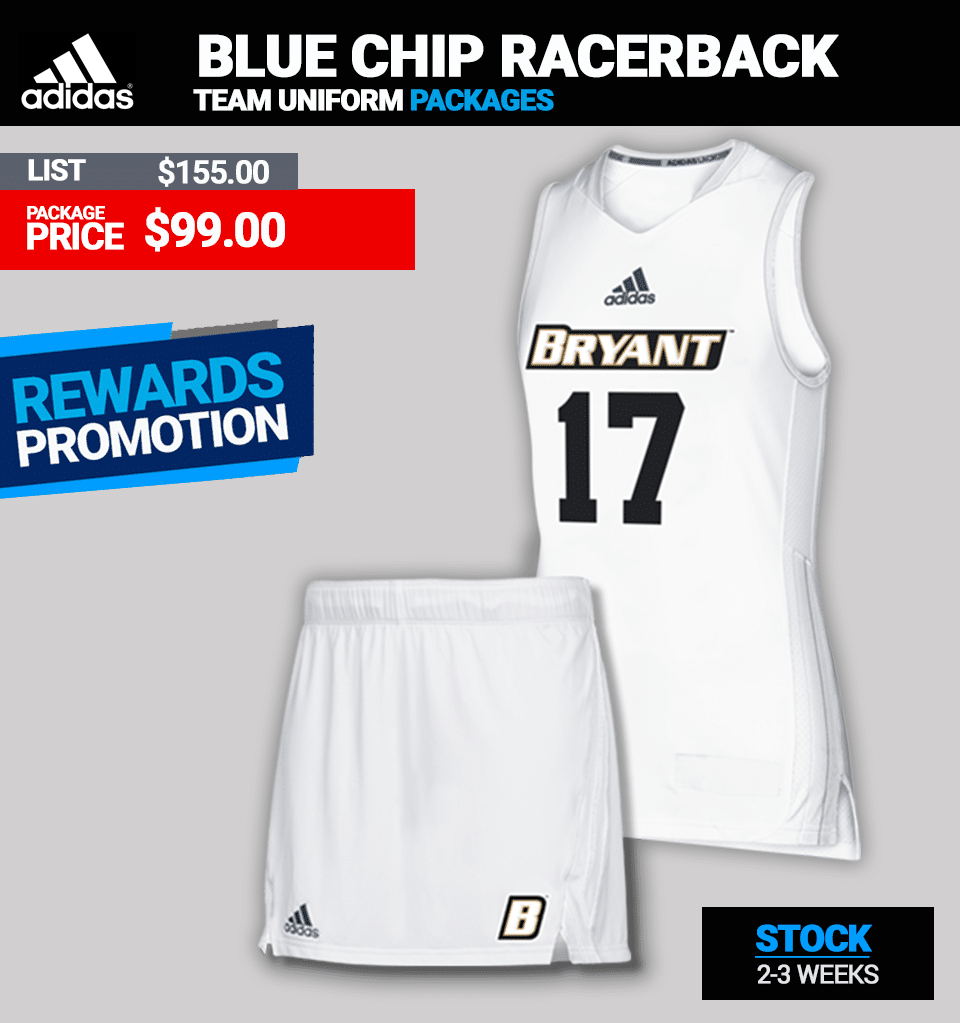 Adidas Blue Chip Ladies Lacrosse Uniform Package - Racerback