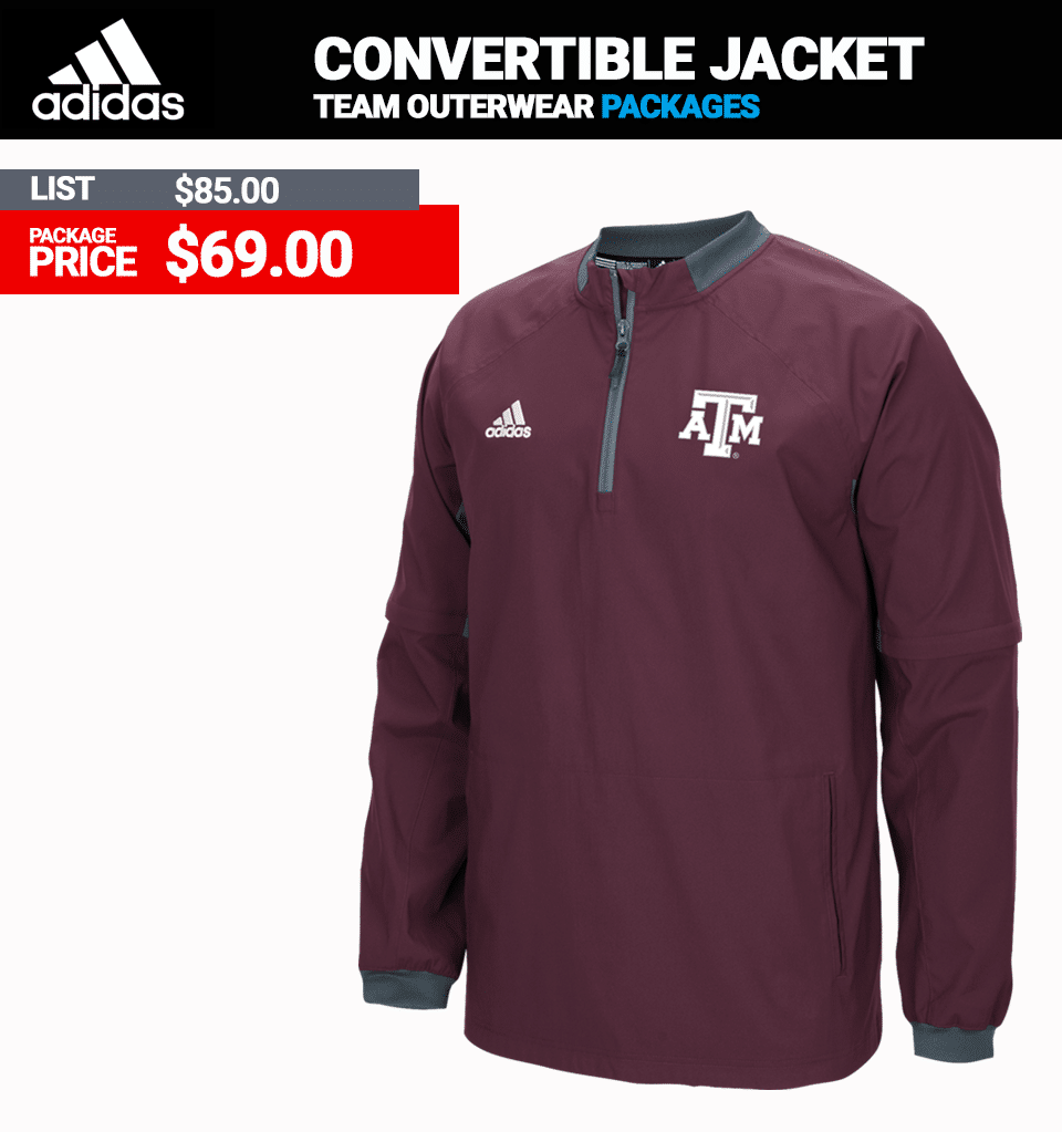 Adidas Convertible Sleeve Batting Jacket