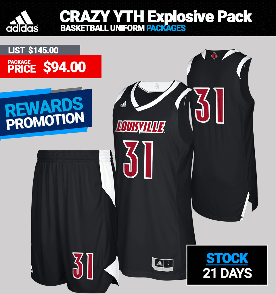 Adidas Youth Crazy Explosive Basketball Uniform Package