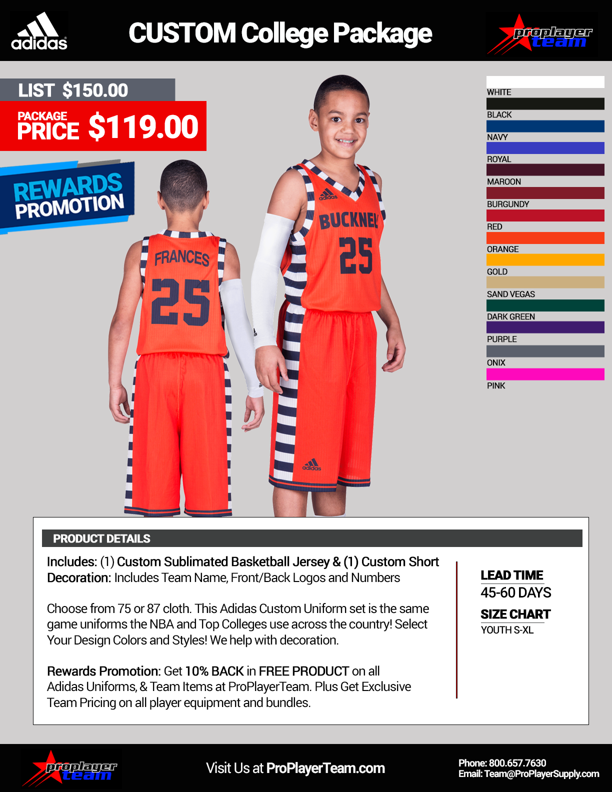 Basketball Uniform Packages 7