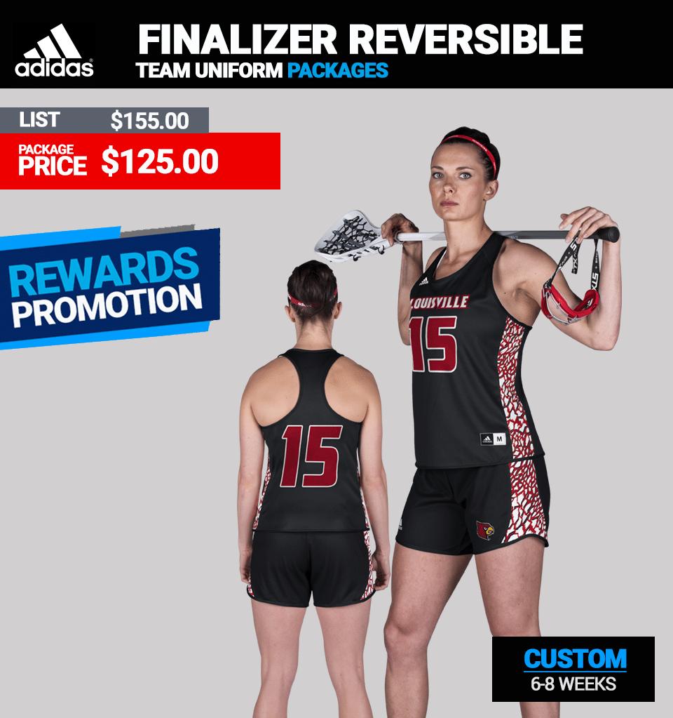 Adidas Womens LAX Finalizer Reversible Pinnie Package