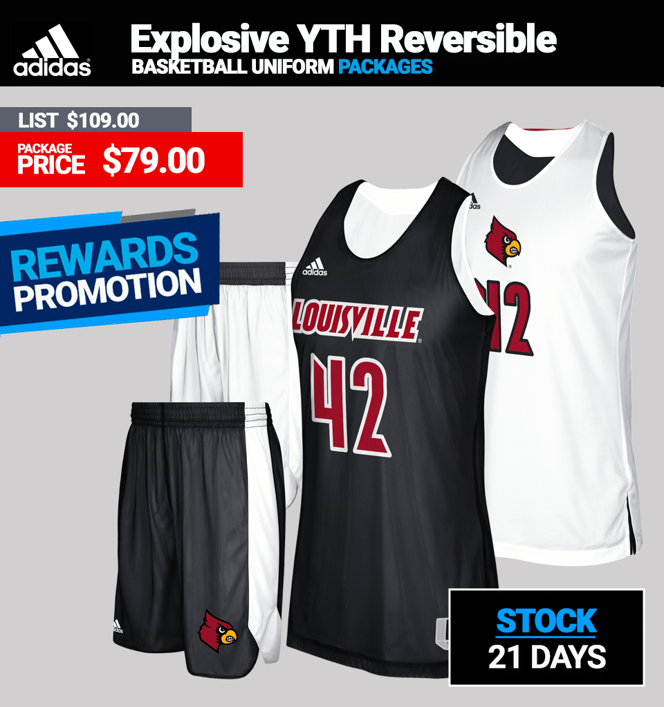 Adidas Youth Basketball Stock Reversible Uniform Package