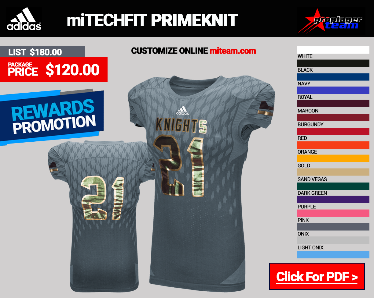 Adidas miTECHFIT PrimeKnit Football Uniform Package