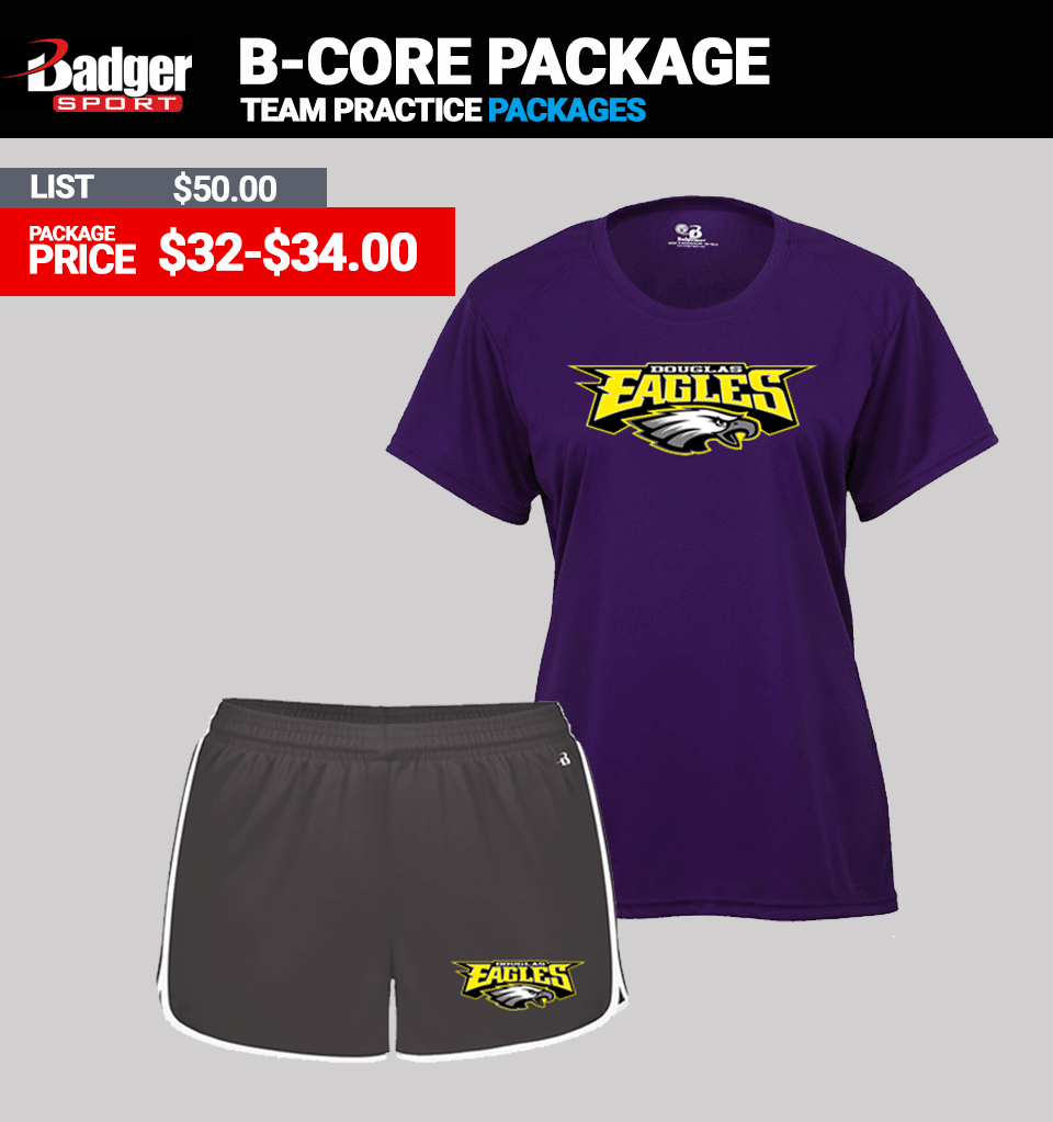 Badger B-Core Practice Package - Womens