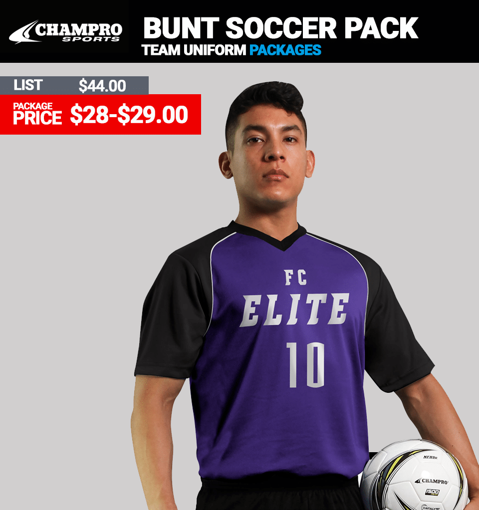 Champro Bunt Soccer Uniform Package