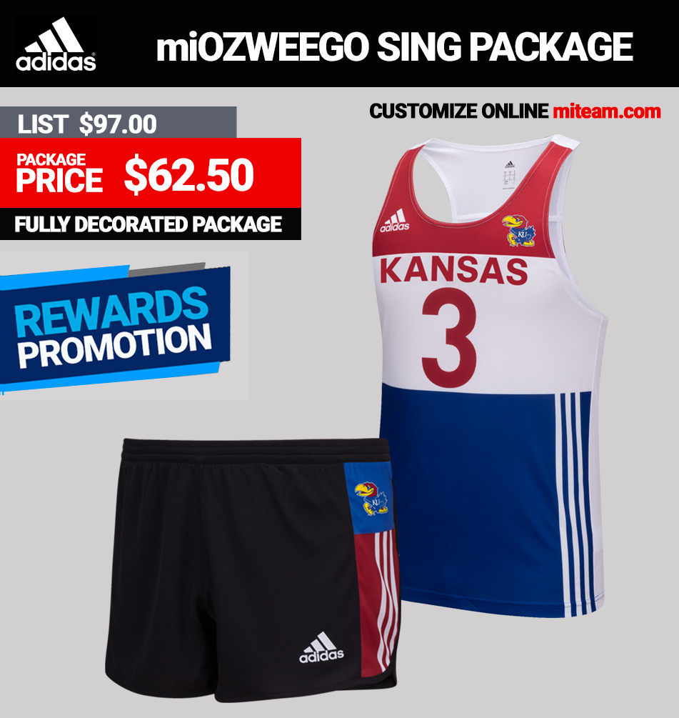 Adidas Mens miOZWEEGO Singlet Track Uniform Package
