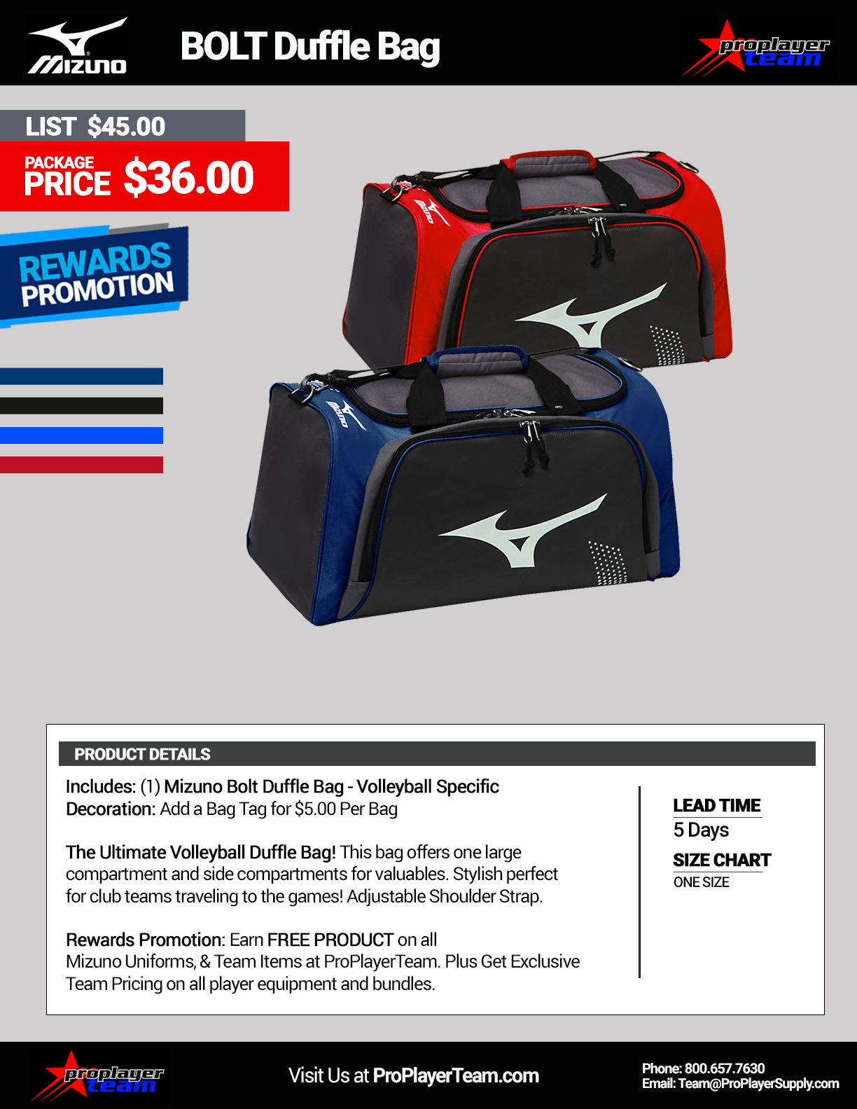 ac0e12e2b061 Volleyball Bags | ProPlayerTeam.com