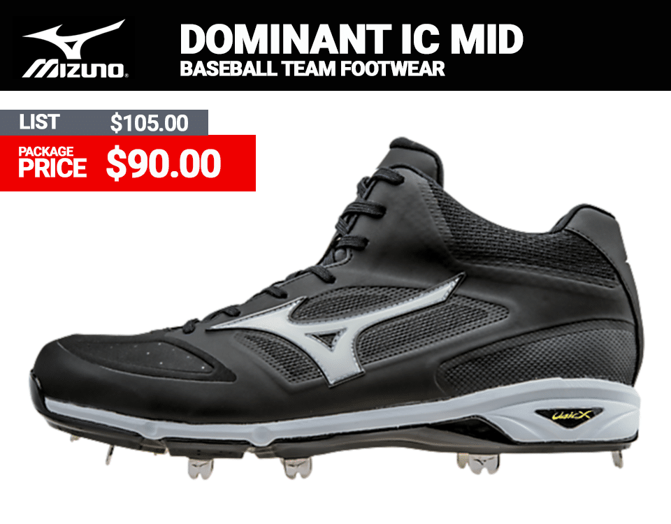 Mizuno Dominant IC MID Baseball Cleats