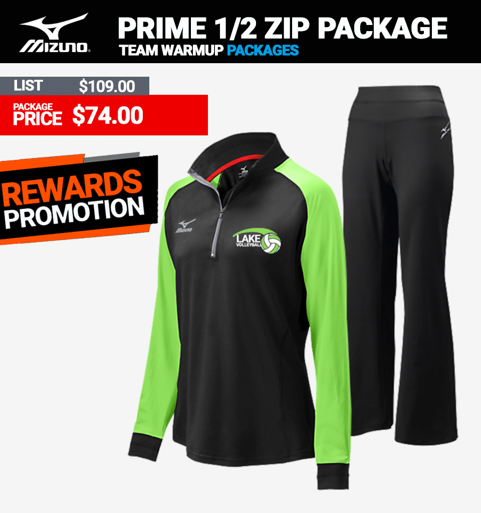 Mizuno Elite 9 Prime Volleyball Warmup Package