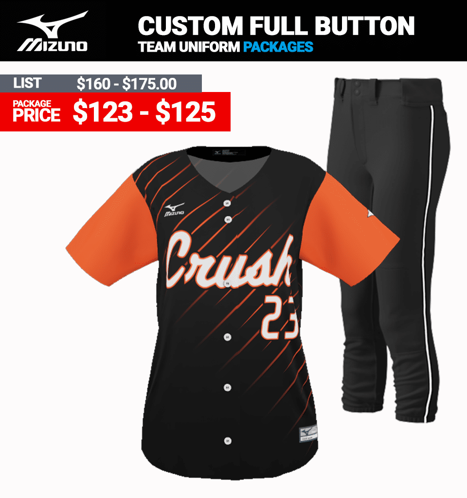 Mizuno Sublimated Uniform Package - Softball Full Button