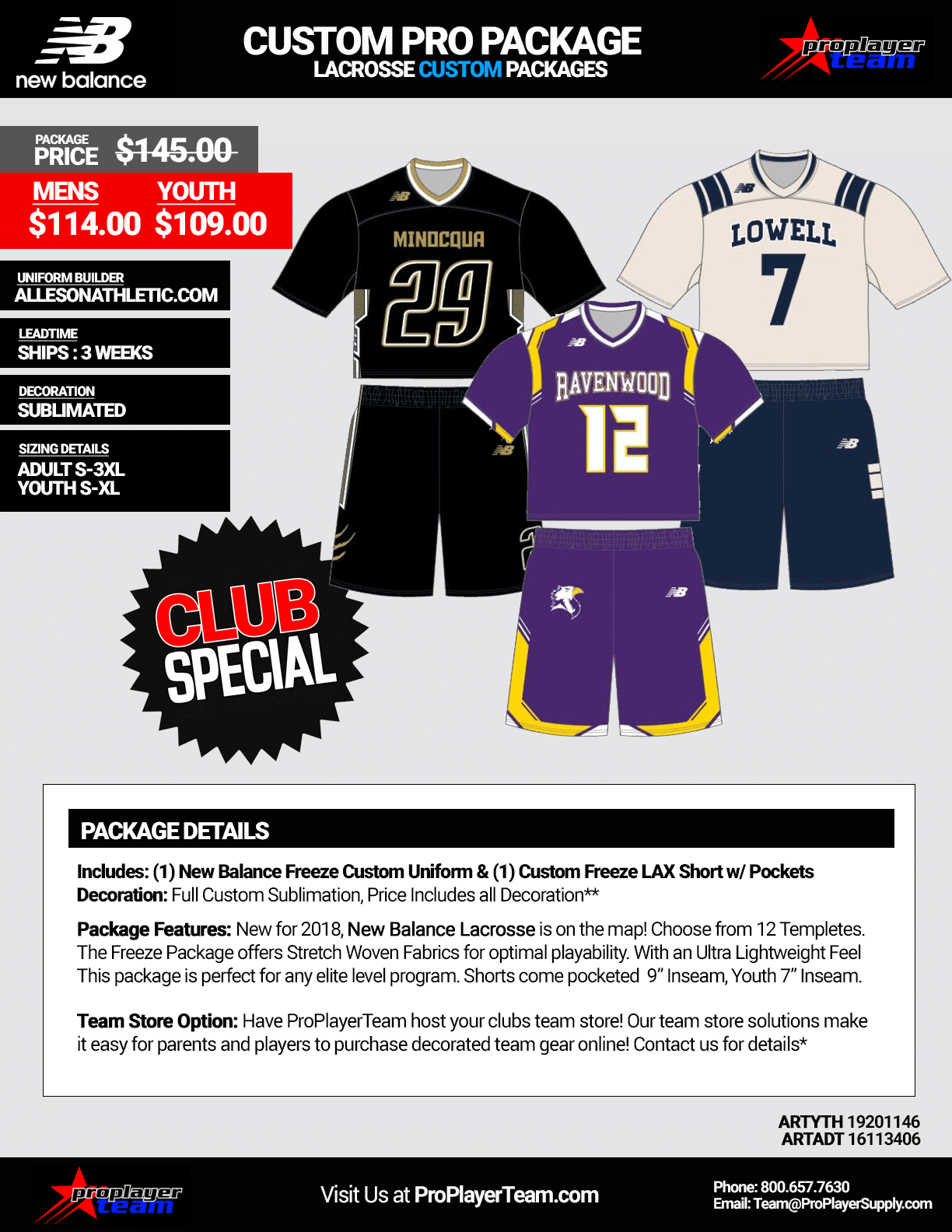 New Balance Freeze Lacrosse Uniform Package. Stock - 14 Day Leadtime -  Click for PDF beade18cd