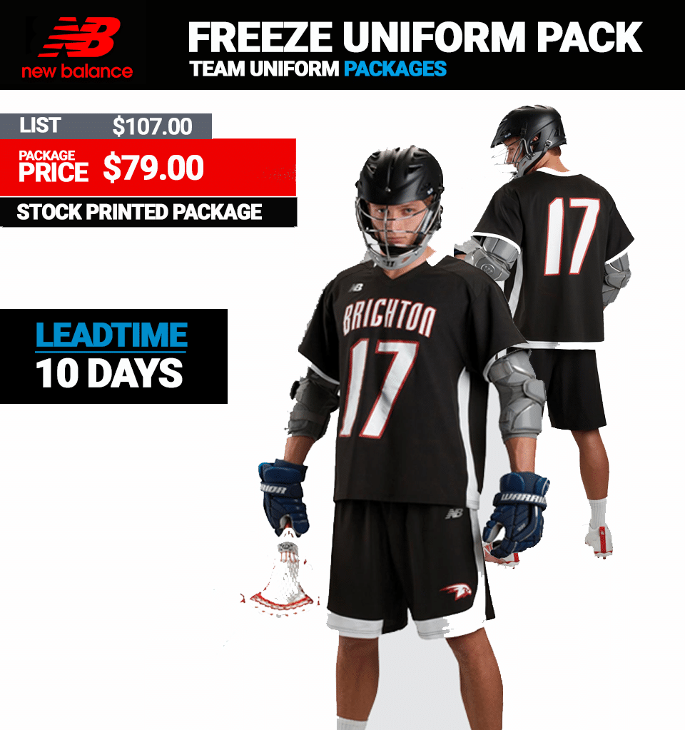 9bbf6cb28 New Balance Freeze Lacrosse Uniform Package