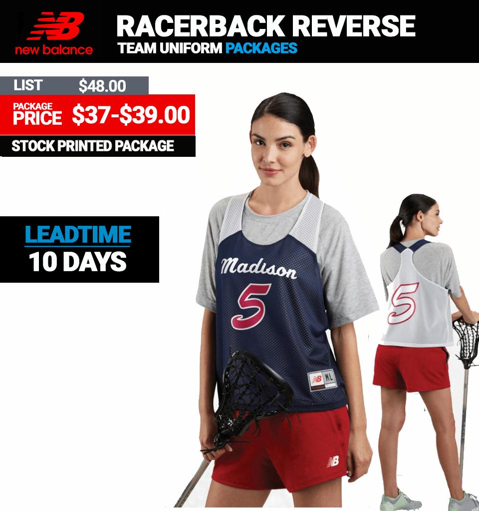 New Balance Pinnie Stock Ladies Lacrosse Package