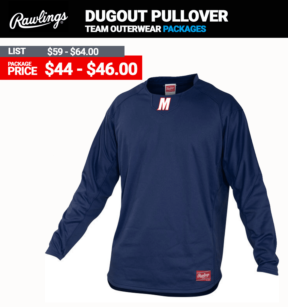 Rawlings UDFP3 Dugout Pullover