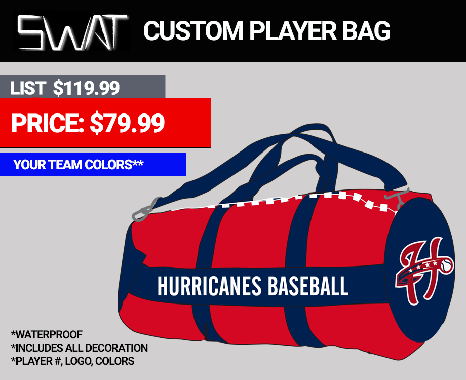 Swat Custom Baseball Softball Duffle Bag