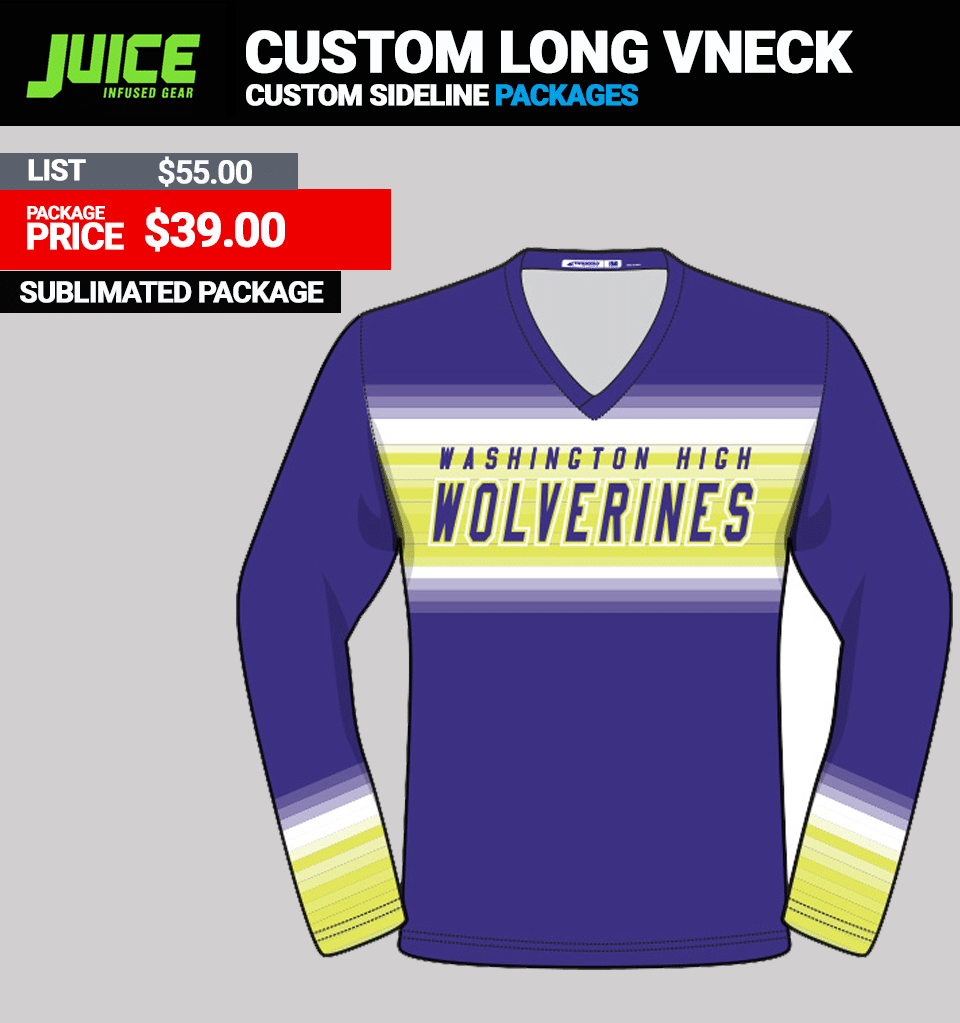 Juice Custom Long Sleeve Top - vNECK