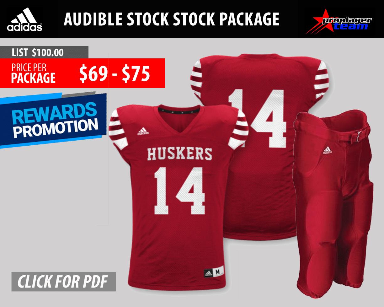 Adidas Audible Stock Football Uniform Package
