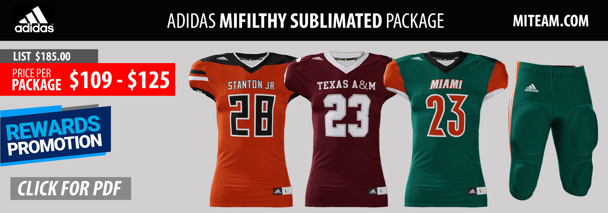 Adidas Mifilthy Quick Football Uniform Package