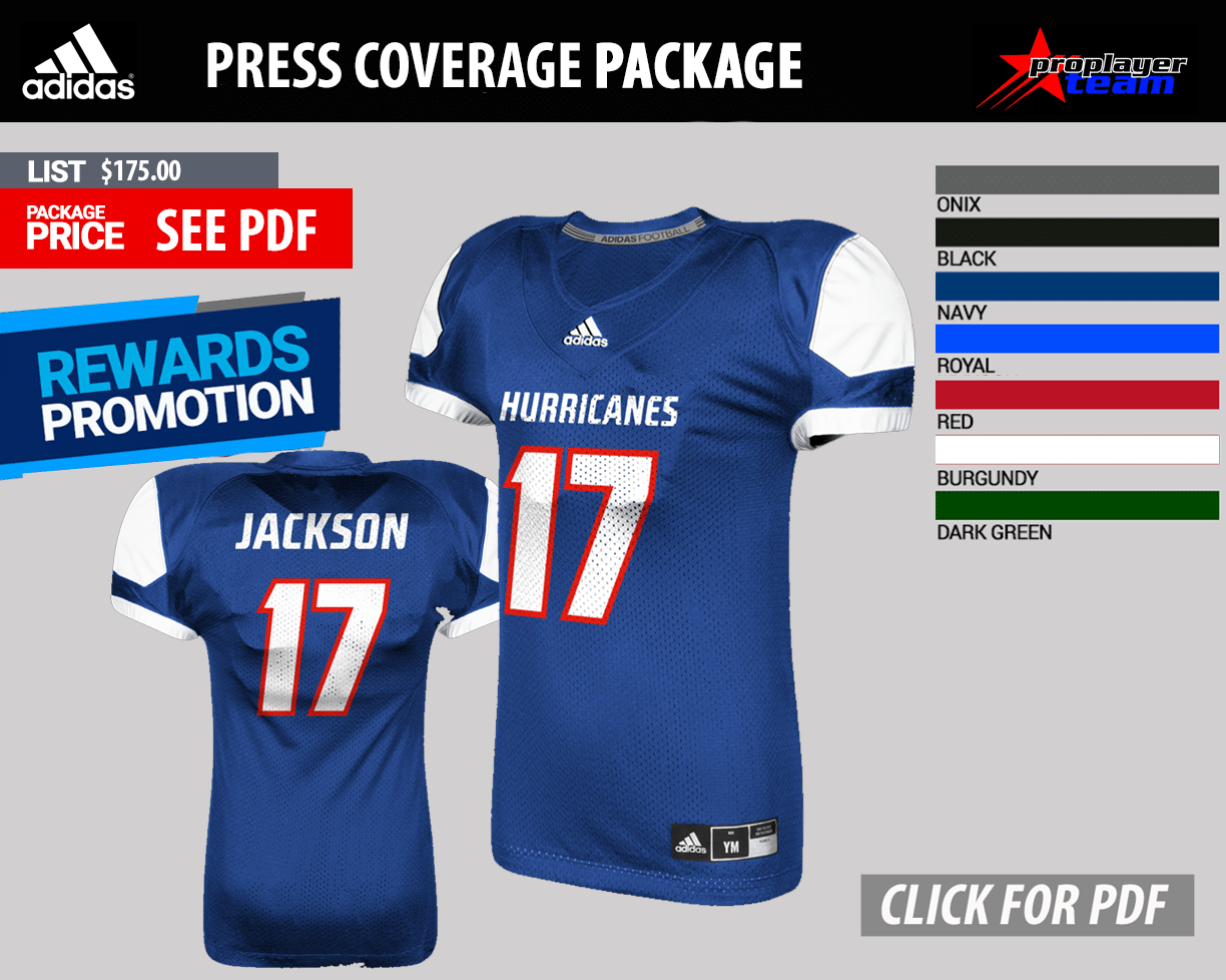 Adidas Press Coverage Football Uniform Package