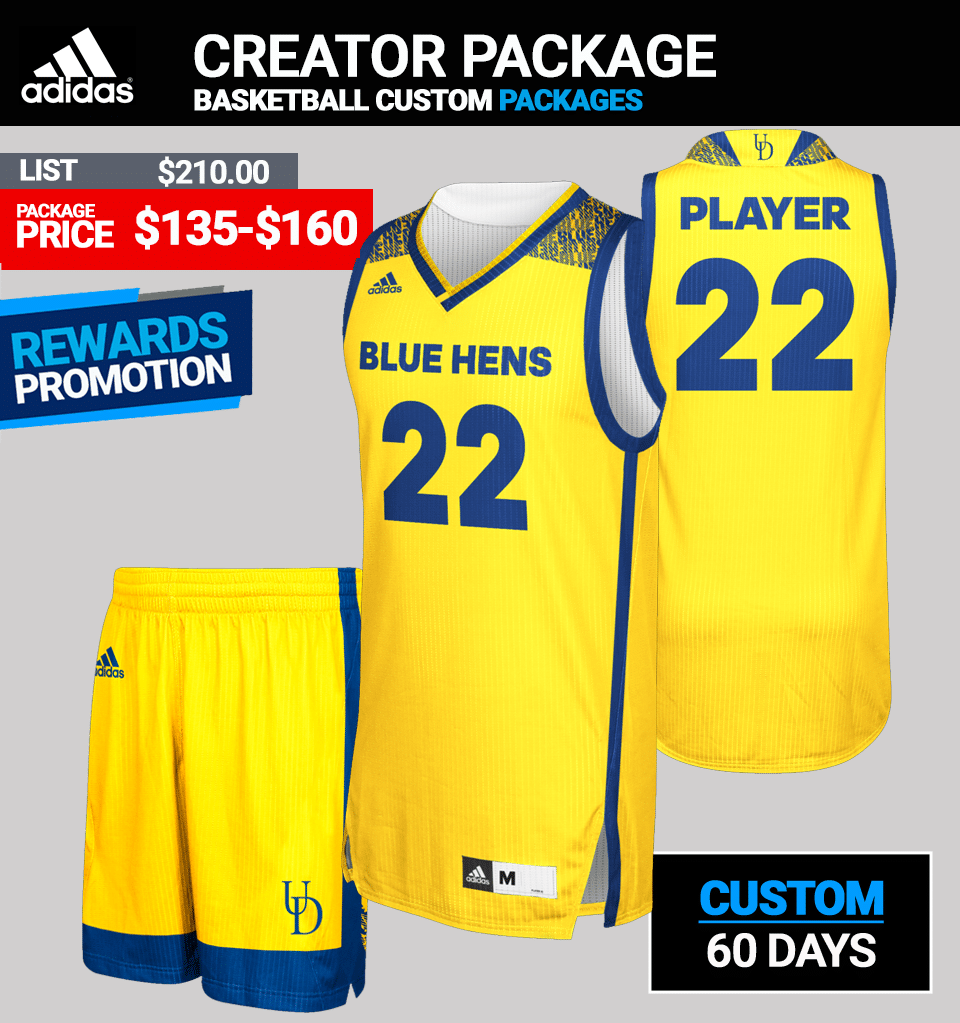 Adidas Custom Shockline Fade Pro Basketball Jersey Package