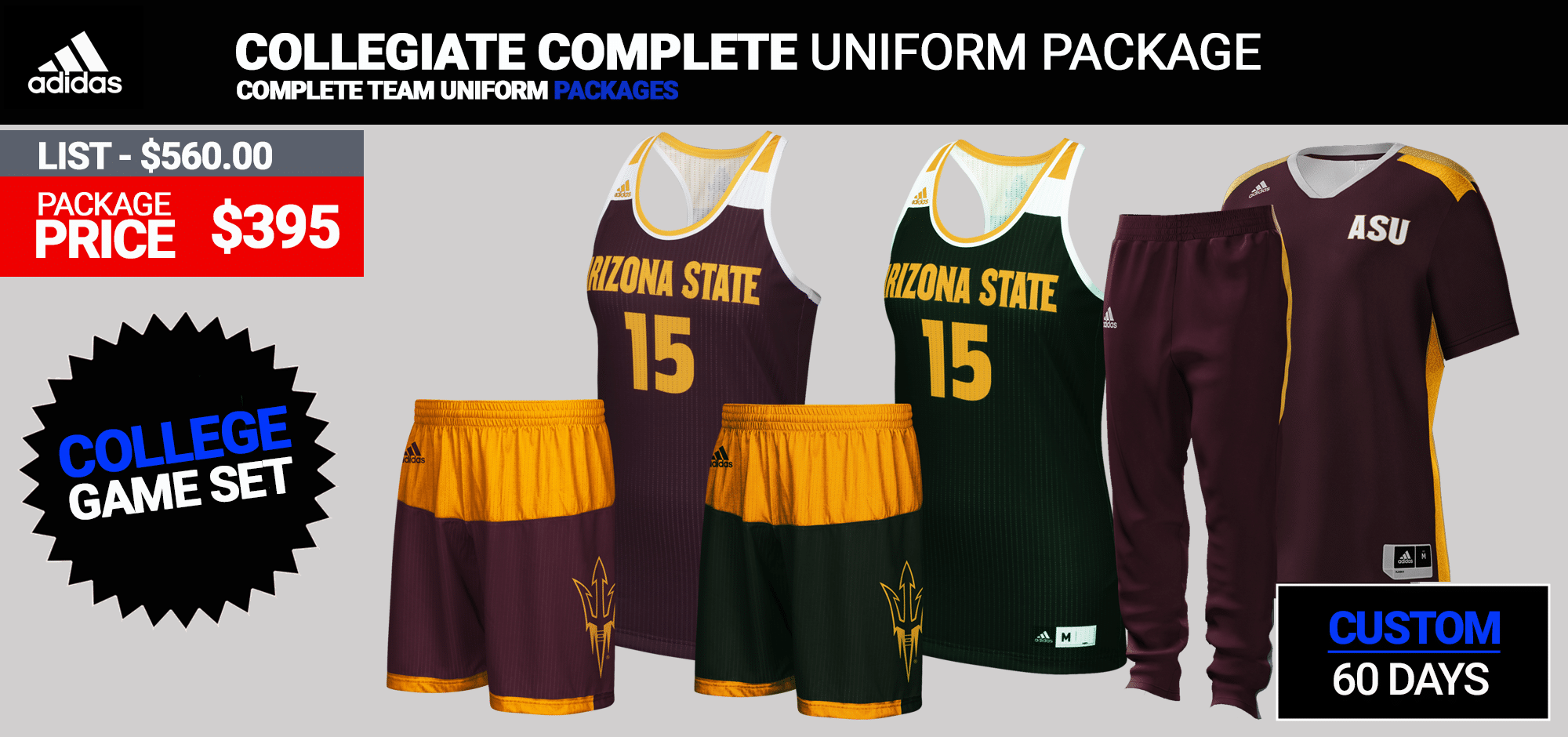 2eee6f309 Custom Complete Team Package (60 Days) Click for PDF  · Adidas Women s Game  Changer Basketball Uniform Package