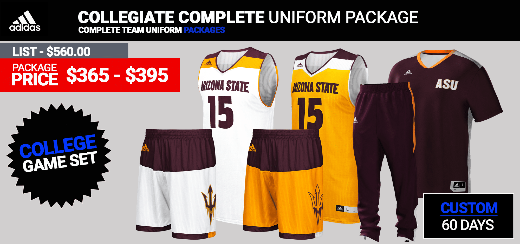 17869e0477e4 Adidas Custom Uniforms · Custom Complete Team Package (60 Days) Click for  PDF