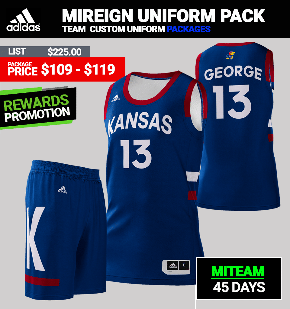 d9856b042436 Adidas Custom Huskers Basketball Uniform Package - Mens