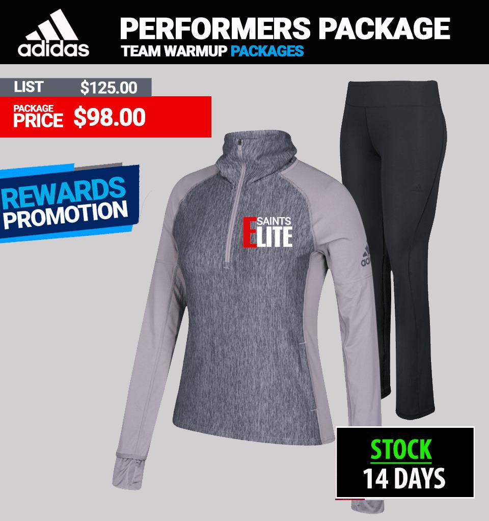 Adidas Womens Performer Warmup Package