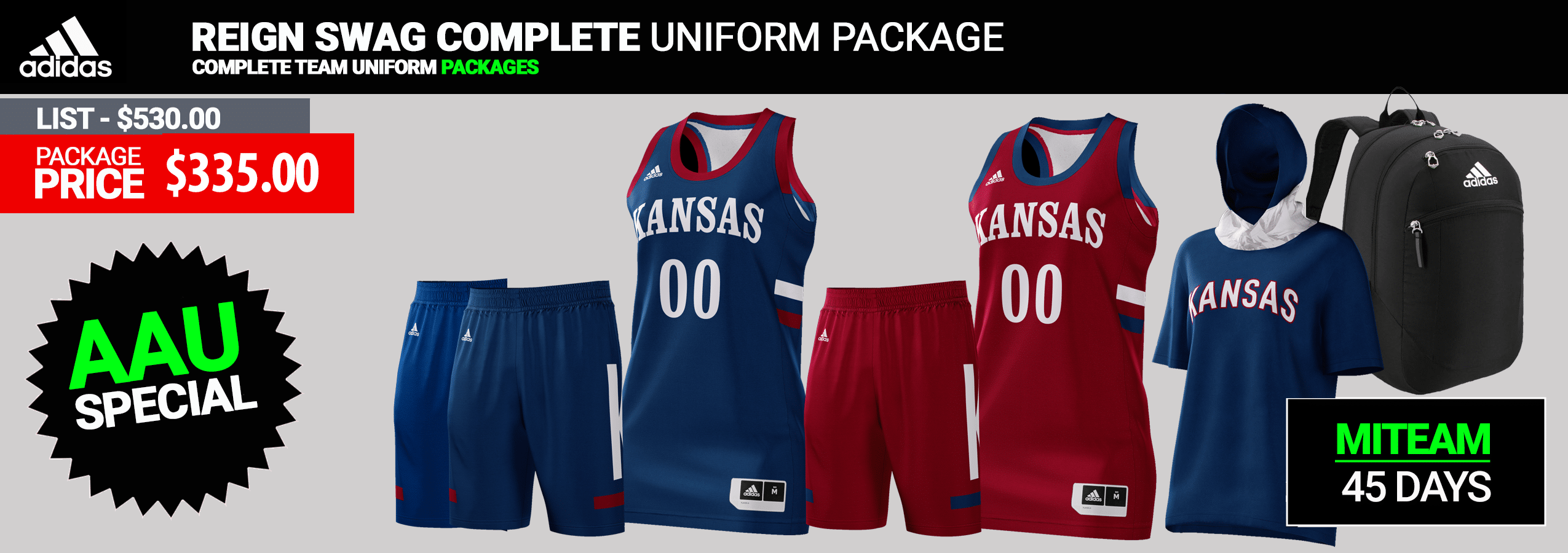 c5c732da3168 Adidas Custom Reversible Youth Basketball Uniform Package