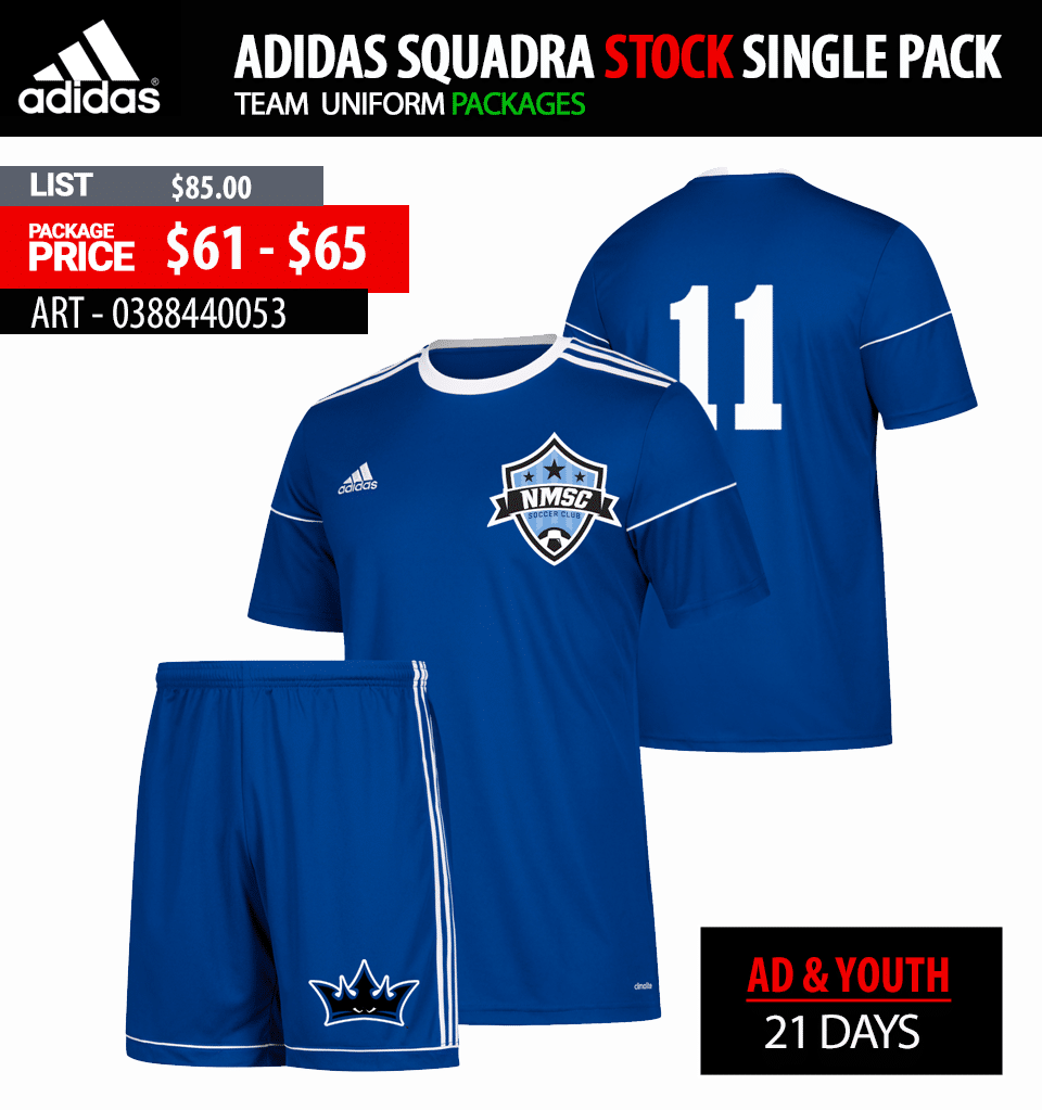 Adidas Squadra 17 Soccer Jersey Package - Mens Youth