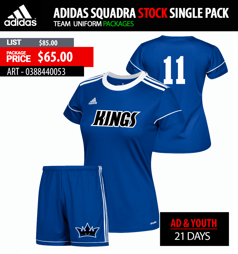 Adidas Squadra 17 Soccer Jersey Package - Womens