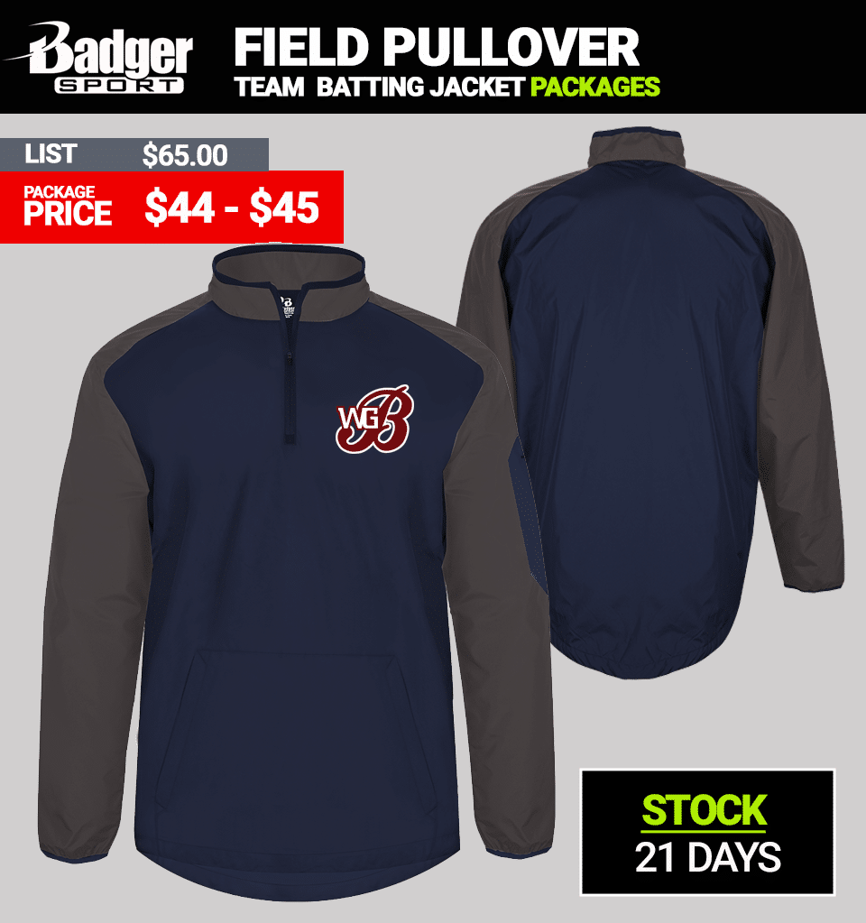 Badger Sideline Pullover Short Sleeve