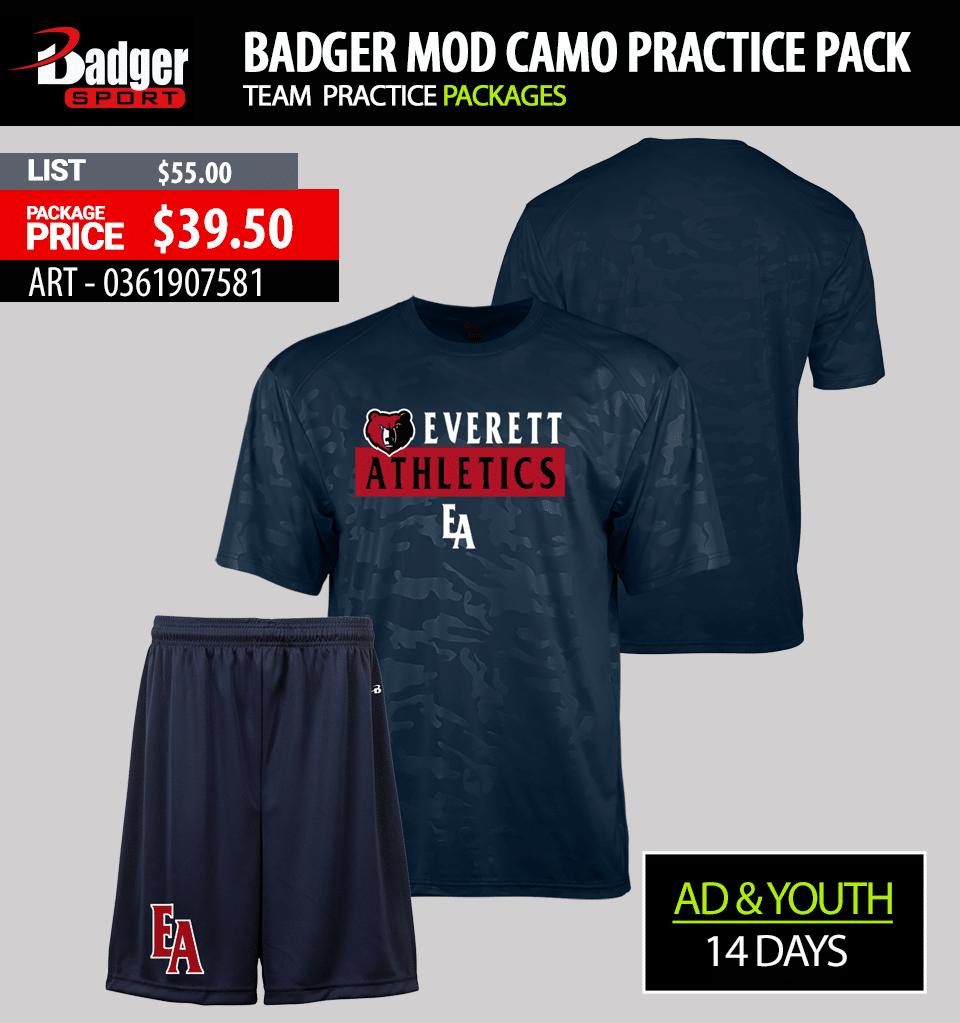 Badger Camo Practice Package