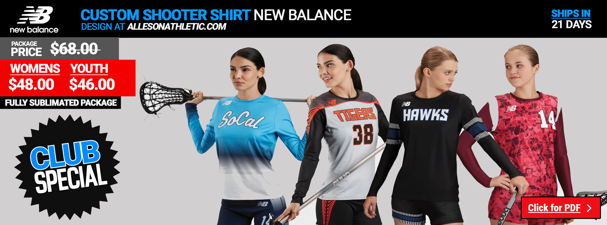 New Balance Ladies Shooters Top - Lacrosse