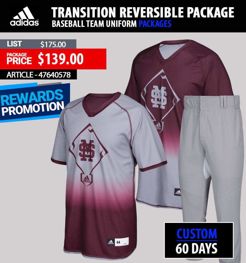 Adidas Amp'd Louisville Baseball Uniform Package - Link