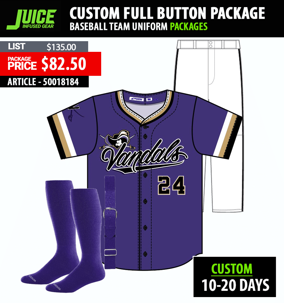 Champro Juice Sublimated Full Button Baseball Jersey
