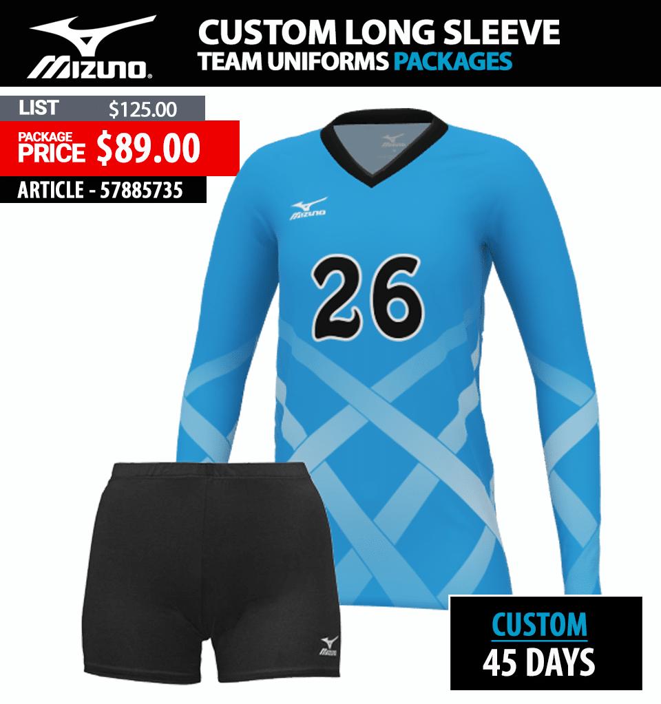 mizuno volleyball uniform packages