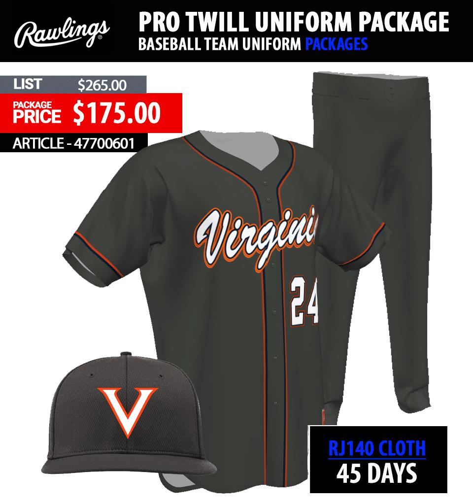 Rawlings Collegiate 150 Tackle Twill Baseball Uniform Package