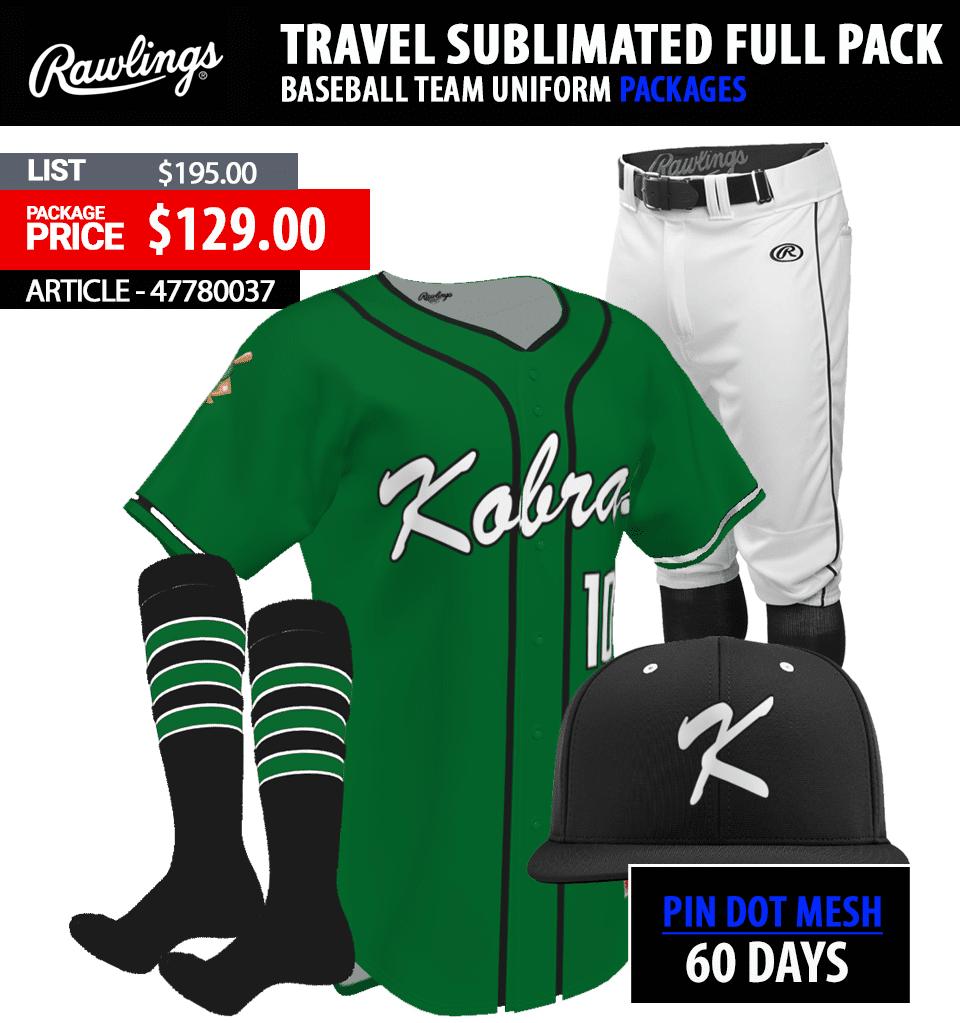 Rawlings Sublimated ADBPJ Baseball Uniform Package Link