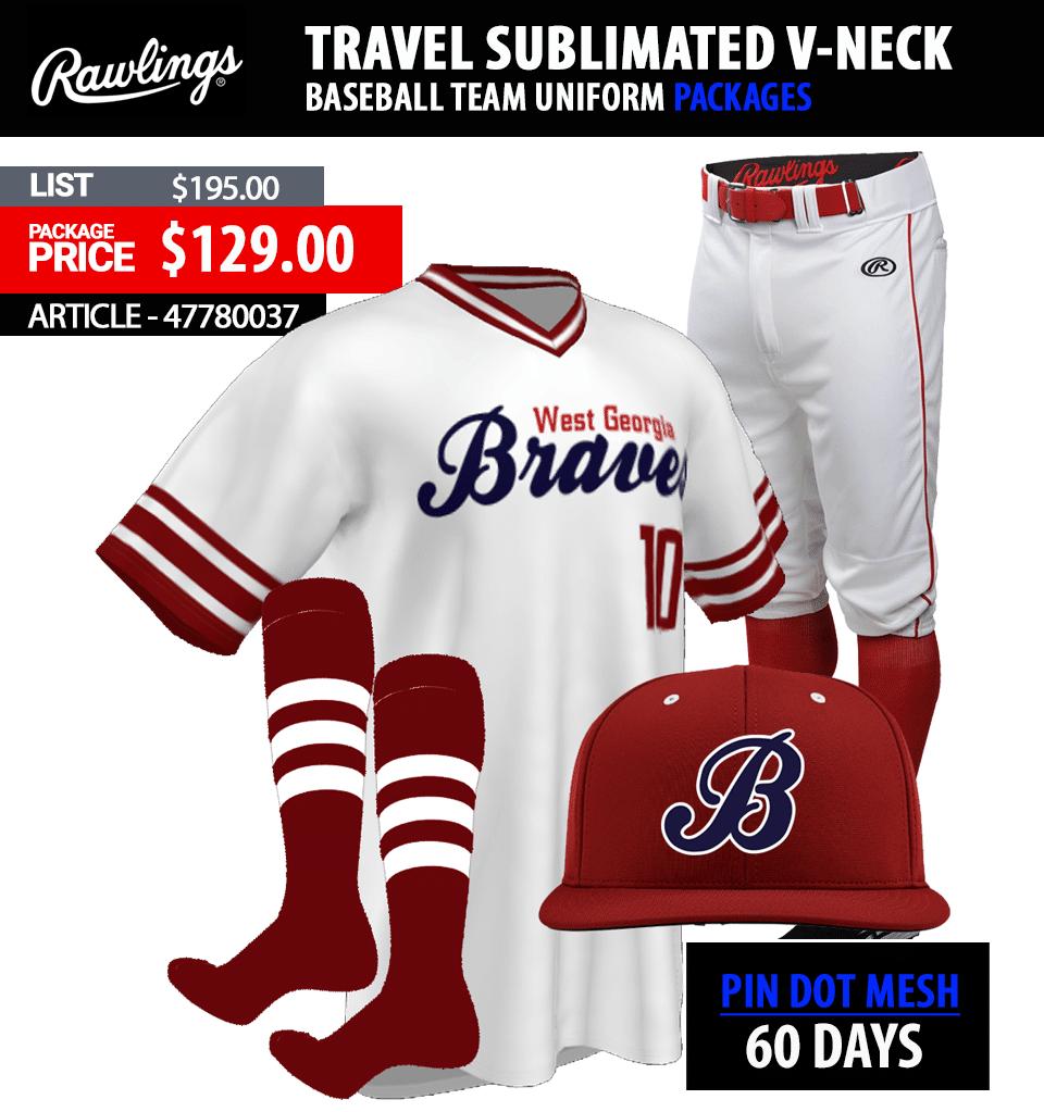Rawlings Sublimated HOUSJ Baseball Uniform Package Link