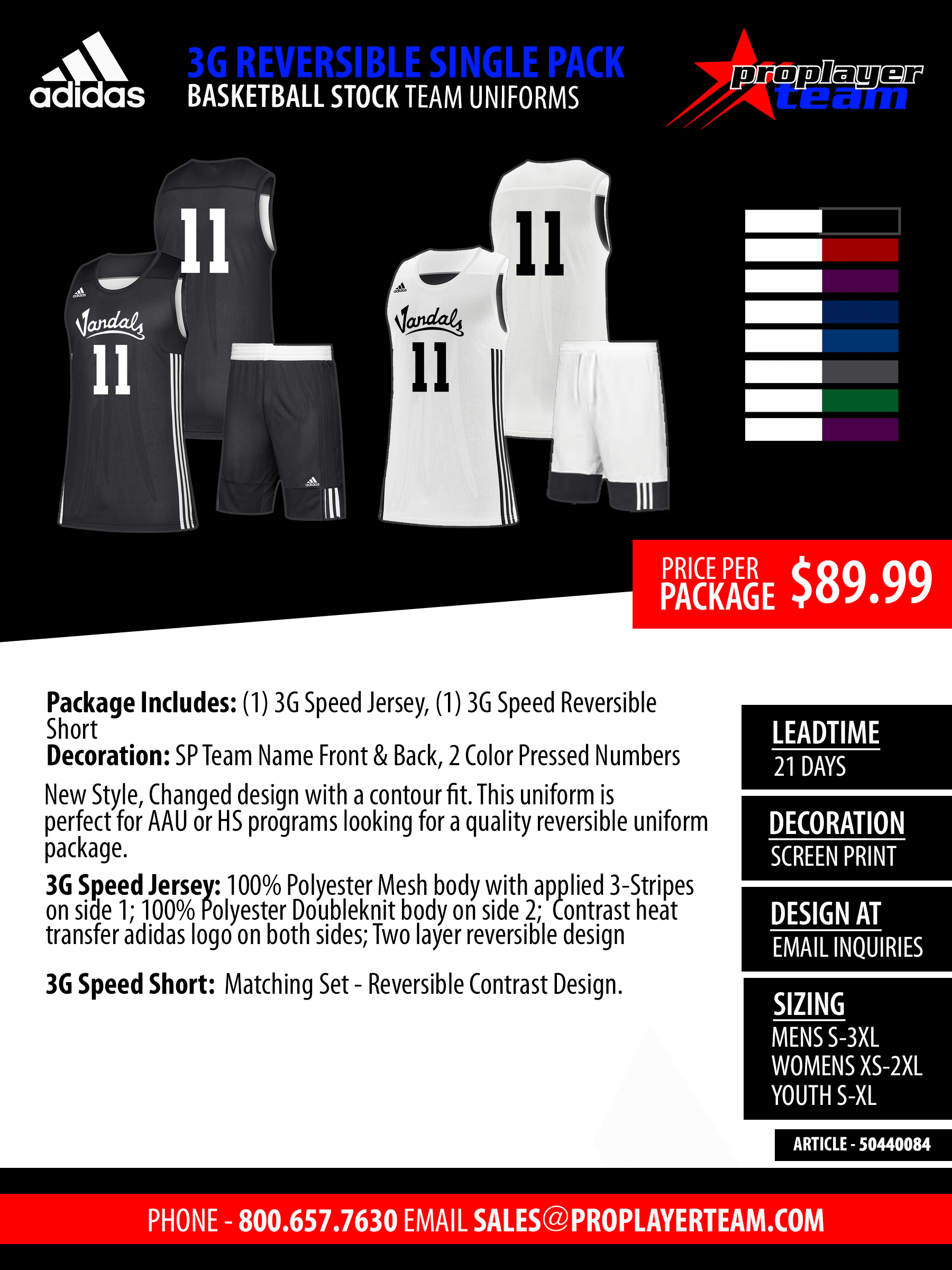 5140b082f Stock (21 Days) Click for PDF> · Adidas miSHOWNGO Reversible Basketball Uniform  Package ...